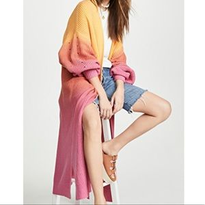 FREE PEOPLE COME TOGETHER OMBRE DUSTER CARDIGAN S
